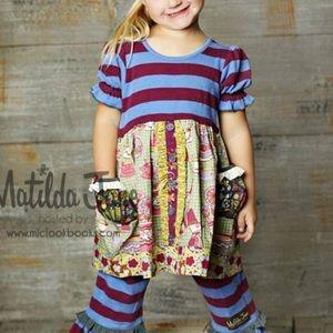 Matilda Jane MAGGIE AT TEA Dress 4 Toddler 4T Pots